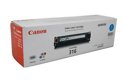 NEW New Genuine Canon 316 C Cartridge 1500 Pages Yield Cyan free shipping