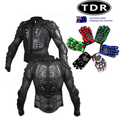 Kid Glove & Boy Girl BODY ARMOUR For Motorcycle Motocross Bike Cycling Dirt Bike