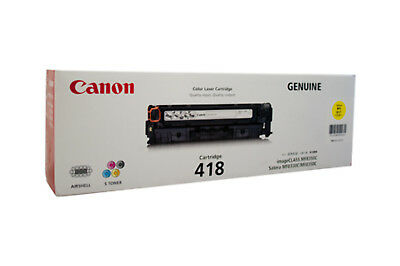 NEW Canon 418 Y Laser cartridge 1400pages Yellow free shipping