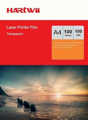 A4 OHP Sheets Film Overhead Projector Film For Laser Jetprinting - 100 Sheets