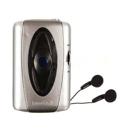 Listen Up Voice Hearing Aid Listening Device Sound Amplifier Personal + Head MFR