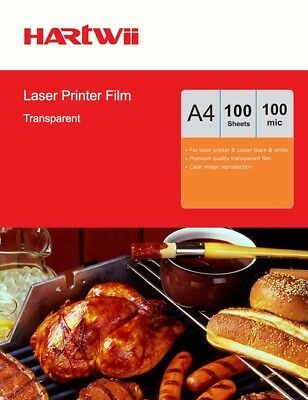A4 100 Sheets Overhead Projector Film OHP Film Clear For Laser Printing Hartwii