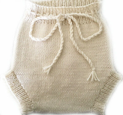 NEW Size Newborn-Small Certified Organic Undyed Woollen Nappy Cover