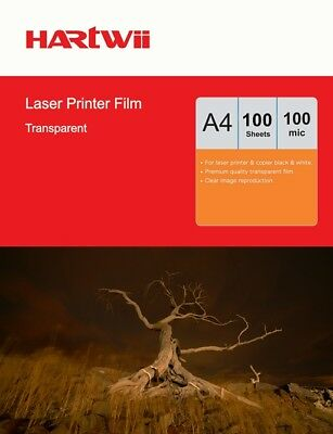 A4 Overhead Projector Sheets OHP Film Clear For Laser Printing - 100sheets