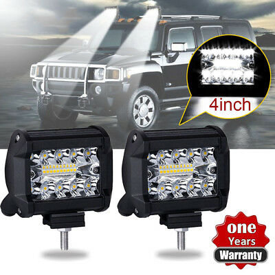 SUV 4WD 60W Spot Cree LED Light Work Bar Lamp Driving Fog Offroad For Boat Truck