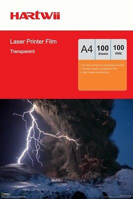 A4 Overhead Projector Film OHP Film Transparent For Laser Printer - 100 Sheets