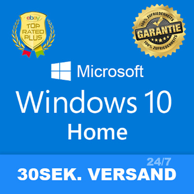 Microsoft Windows 10 Home ✔ MS® Windows ✔ 1PC ✔ Vollversion ✔ 64/32BIT ✔