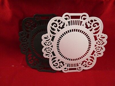 4 Decorative Card Making Mats..........style  6.............white......black