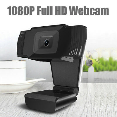 NEU 1080P HD Pro Webcam Kamera Mikrofon mit MIC 12MP CMOS Für PC Laptop DE