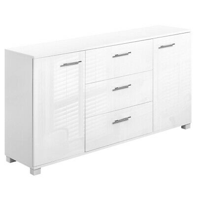 High Gloss Storage Cabinet Sideboard White Cupboard Buffet Dresser Table New