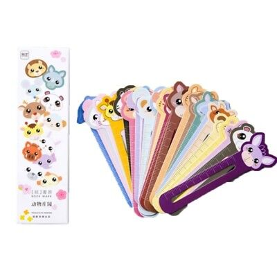 30PCS/lot Cute Animal Farm School Supplies Bookmark Scale Shape Bookcase Ruler