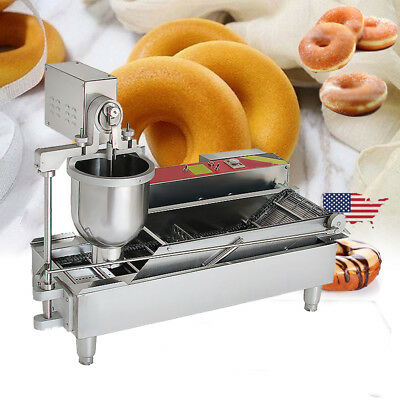 Commercial Electric Automatic Doughnut Donut Machine Unit Donut Maker W/3 Size
