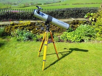 Hunter Astronomical 4.5 inch reflector telescope with equatorial mount