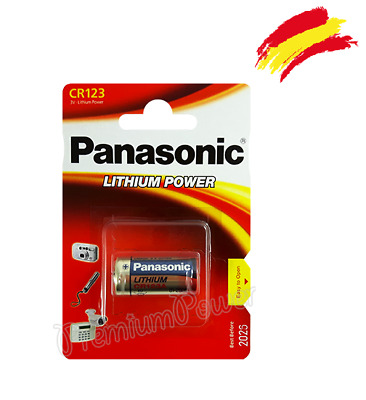 10 x Pilas Panasonic CR123 3V LITIO CAMARA FOTO battery