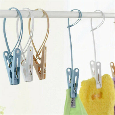 12Pcs Portable Clothes Pegs Storage Clip Home Hanger Socks Underwear Drying Rack