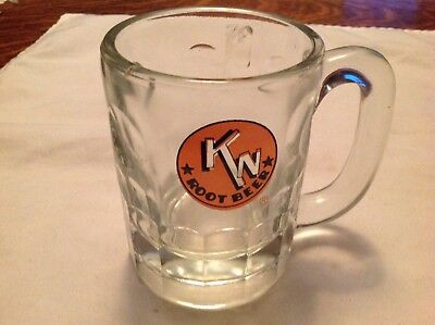 K N Glass Vintage Root Beer Mug