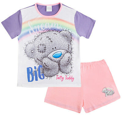 Girls Me To You Tatty Teddy Shorts Pyjamas 2 Piece Kids Pjs Character Nightwear