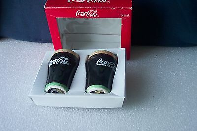 """COCA  COLA BRAND SALT & PEPPER SHAKER SET 1999 Old Stock Collectible 3 1/2"""" tall"""