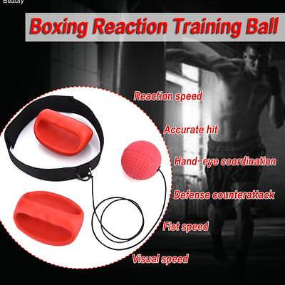 Boxing Punch Exercise Fight Ball With Head Band Reflex Speed Training UK