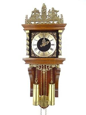 Zaanse Warmink Dutch GONG Wall Clock Vintage Antique (Hermle WUBA Junghans Era)