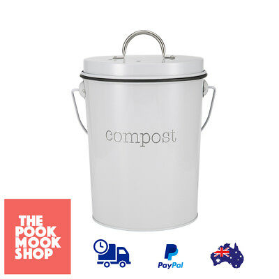Compost Bin - Storage Organic, Holed Lid Cover Handle Garden Soil Can Gardening