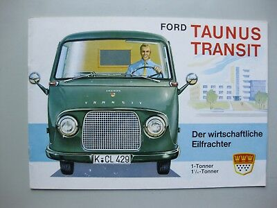 Ford Taunus Transit prestige brochure Prospekt German text Deutsch 1963 20 pages