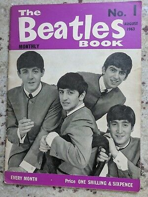 BEATLES BOOK MONTHLY Magazine No.1 - ORIGINAL - August 1963 Very nice Condition
