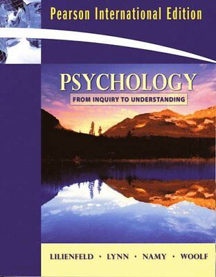 Psychology: From Inquiry to Understanding: International Edition, Lilienfeld, Sc