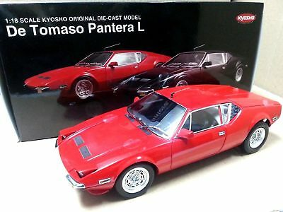 New 1:18 Kyosho Car Model De Tomaso Pantera L 1972 Red 08851R