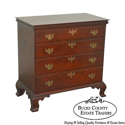 D.R. Dimes Solid Cherry Chippendale Style Chest w/ Dovetailed Top