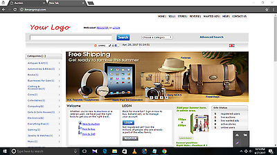EBay Clone Website for SALE! Complete Website for SALE FREE HOSTING 1st YEAR