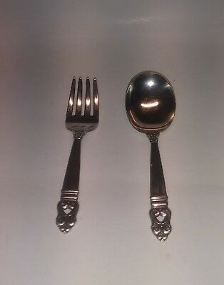 International Sterling Silver Royal Danish Baby Fork and Spoon Set