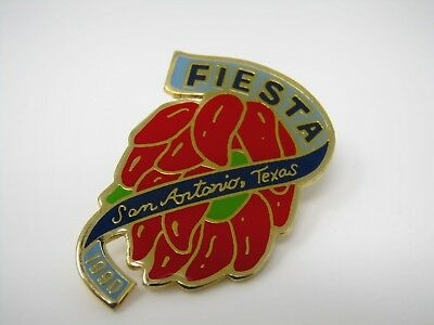 Vintage Collectible Pin: 1990 San Antonio Texas Fiesta Chili Peppers Design