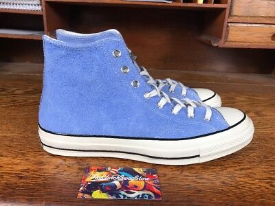 fc6074efb8ab37 Converse Chuck Taylor All Star 70 High Suede Pioneer Blue Mens Sizes 157454C