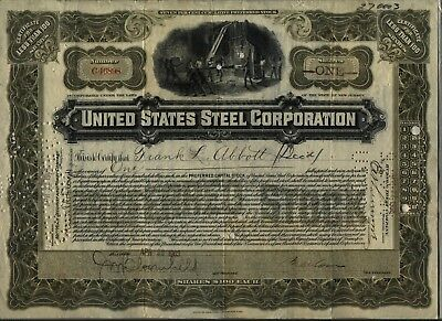 1903 United States Steel Corporation Stock Certificate US
