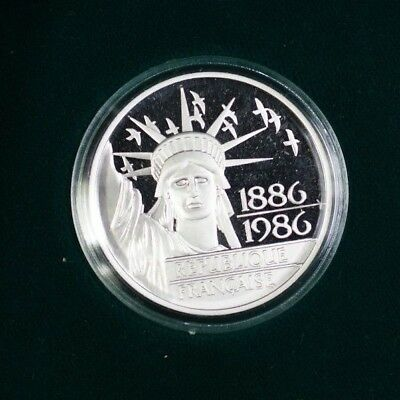 1986 France 100 Franc Platinum Proof Coin 20g of .999 Pure In Case With COA