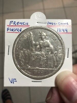 1899 French  Indo-China Piastre Silver Coin