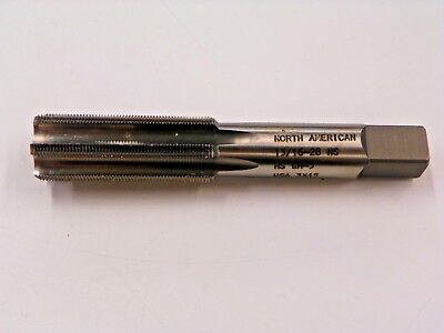 North American Straight Flute Tap, 13/16-28 Ns, Hs Gh-3, Usa            D207