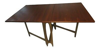Mid Century Gateleg Scandinavian Teak Dining Table Compact NORWAY
