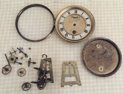 CLOCK DIAL & BEZEL with GLASS Spares Repairs Cogs Movement Parts