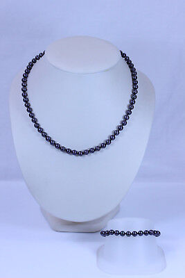 """AAA Huge Natural Peacock Black 14x18mm Baroque Nucleated Pearl Necklace 18/"""""""