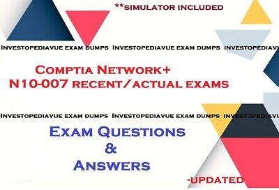 N10-007 CompTIA Network+  exam questions answers  & Simulator