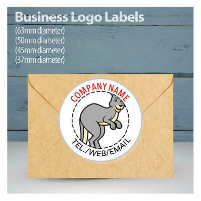 70 Personalised Business Name Logo Stickers Seals Company Labels Address Contact