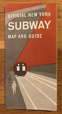 1963 Nyc Subway Map.Vintage 1963 New York City Nyc Subway Map Guide Bmt Irt Ind Transit Train