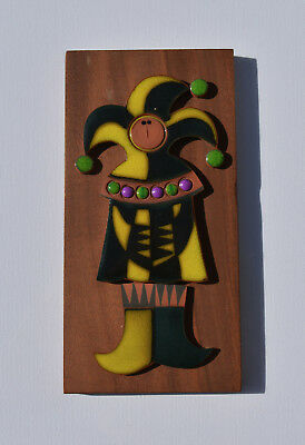 VINTAGE HORNSEA POTTERY MURAMIC WALL PLAQUE of Jester