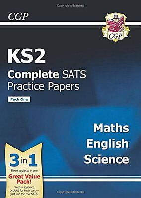 KS2 Complete SATs 2017 Practice Papers Maths Science English GCP Books Pack 1