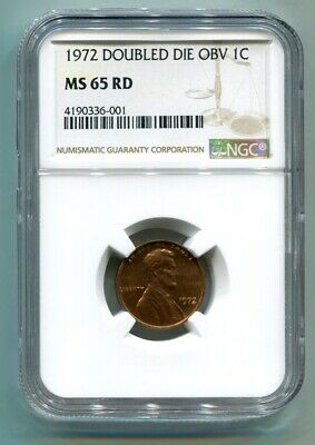 1972 Doubled Die Obverse Lincoln Cent Penny Ngc Ms65Rd Red Nice Original Coin
