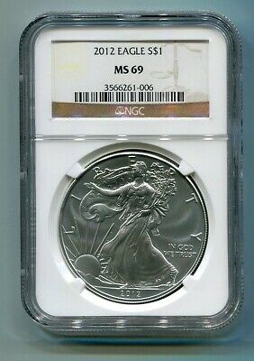 2012 American Silver Eagle Ngc Ms 69 Brown Label Premium Quality Pq Bobs Coins