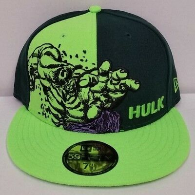 df6b26422f6bc Marvel New Era Incredible Hulk Panel Pop 59 Fifty Cap Hat New With Tags US 7