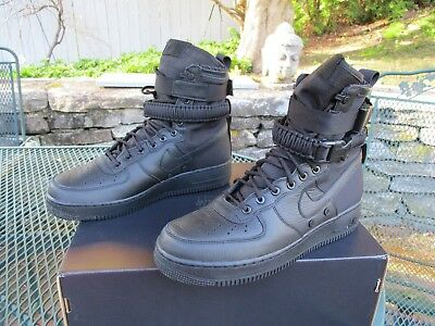 sneakers for cheap 7db0b b9047 NIKE SF AIR FORCE 1 HIGH Special Field 864024-003 Triple Black Men s Mult  Sizes